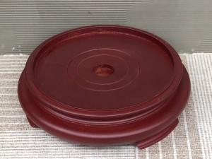 Chân đế gỗ bát hương 1 mặt đường kính 18cm