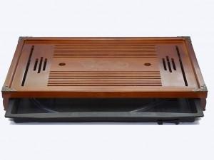 Khay trà tre giả gỗ bịt đồng 55cm