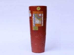 Lọ hoa gốm Bát Tràng dáng cốc S1 37cm