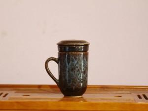 Ly Cốc lọc trà men hỏa biến bằng sứ