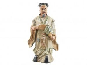 Tượng sứ Khổng Minh Gia Cát Lượng men rạn cao 90cm