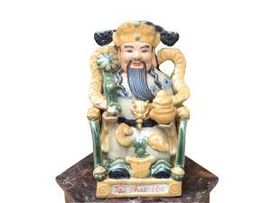 Tượng sứ Tài Phát Lộc cao 35cm